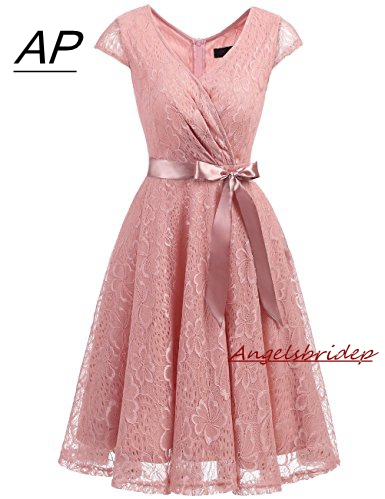 ANGELSBRIDEP Sexy Sweetheart Mini Homecoming Dress Chiffon Short Special Occasion Cute 8th Grade Graduation Dresses Lace-up Back