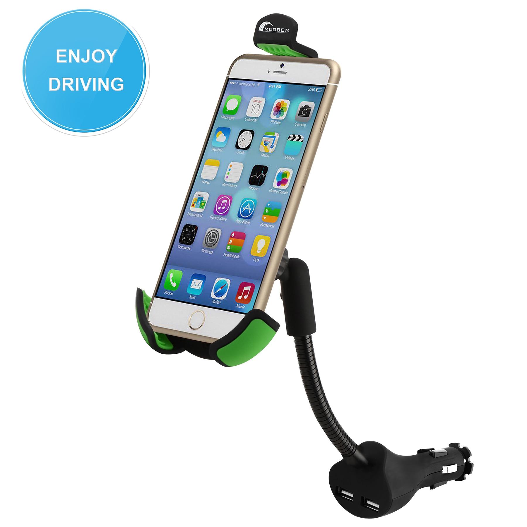 Цена за Универсальный автомобильный держатель HC84K держатель телефона двойной USB 2.1A более Зарядное устройство току T0.21