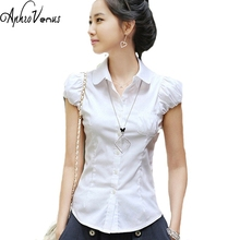 2016 Summer Tops Shirt Women Blouses Chiffon Shirt Clothing Lady Blouse Female Work Wear Shirts Short