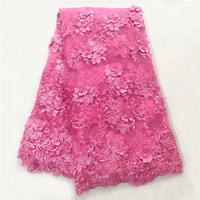Hot Selling High Quality Water Soluble African Cord Lace Guipure Lace Fabric With Stones And Beads