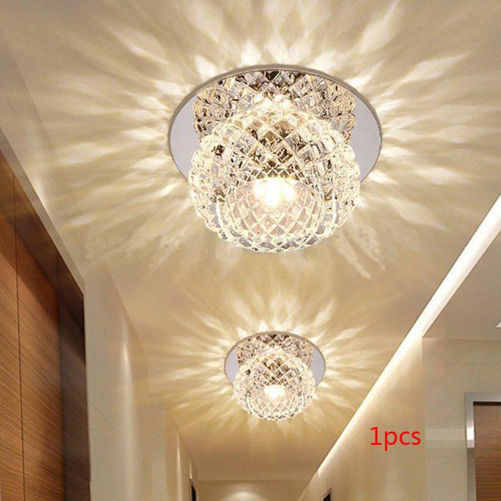 5W 220V Luminaire Pendant Lamp Energy Saving Crystal Bedroom Living Room Large Lighting Area Dining Room Hallway Home Decoration