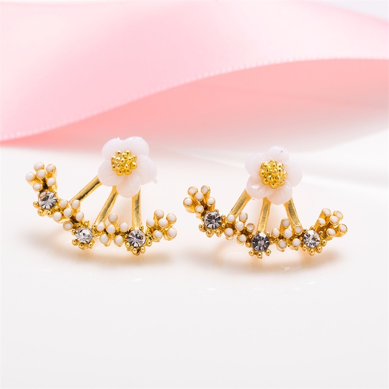 HTB1yUFKXhn1gK0jSZKPq6xvUXXaA - New Crystal Flower Drop Earrings for Women Fashion Jewelry Gold Silver ColorRhinestones Earrings Gift for Party Best Friend