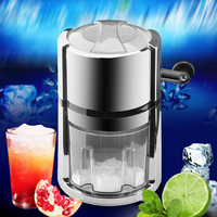Kitchen Bar Ice Cream Tools ABS Stainless steel blade Circular Hand Shaving Crusher Machine Breaker
