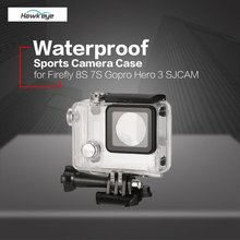 Waterproof Anti-Crash Hard Shell Housing FPV Sports Motion Camera Case Mount for Gopro Hero 3 SJCAM Hawkeye Firefly 8S 7S