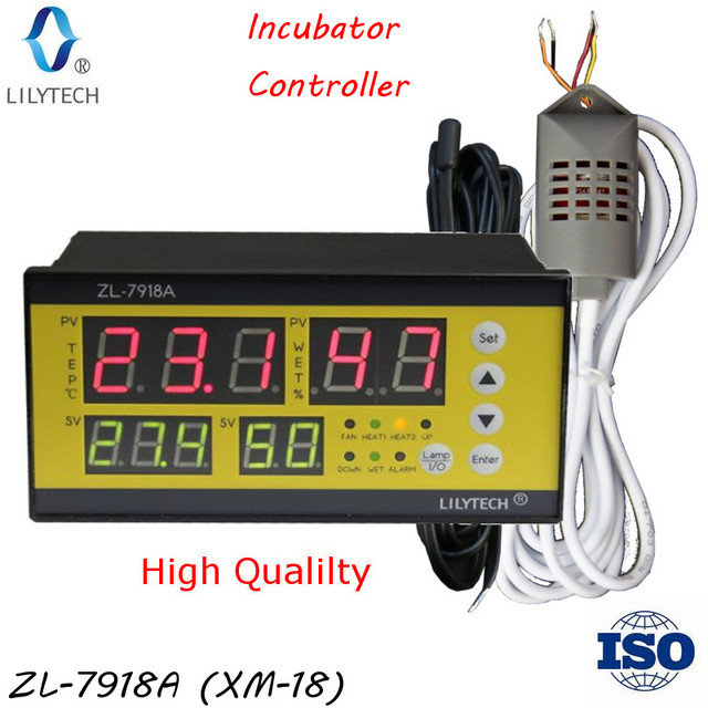 ZL-7918A,100-240Vac, Multifunction Automatic Incubator, Incubator Controller, Temperature humidity for incubator, Lilytech xm-18
