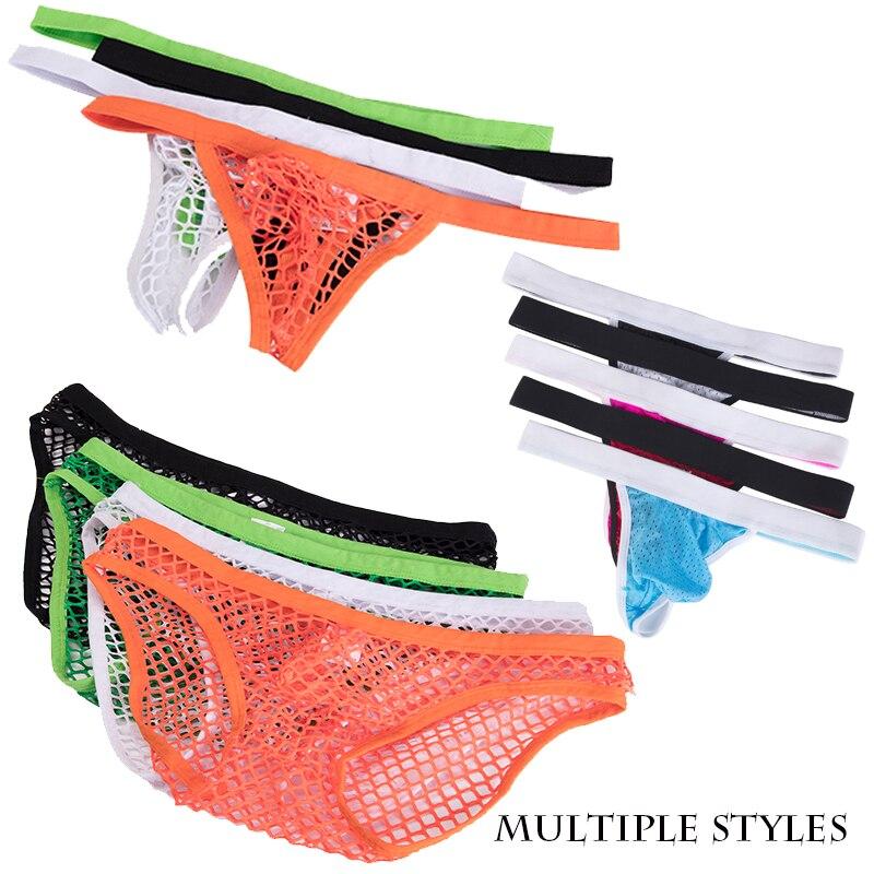 SAYFUT 2019 Sexy Underwear Men New Men's Low-waist Briefs Breathable Brave Underpants Men Hot Sale G-string Thong Underwear