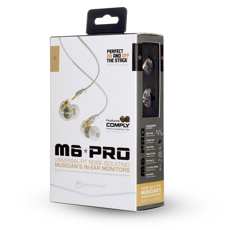 MEE Audio M6 PRO Noise Isolating Music In Ear Headsets Black/White Universal Fit Wired Earphones With Retail PK SE215 SE535 in stock 24hrs ship black white wired mee audio m6 pro noise isolating earphones in ear monitors headphones headset with box