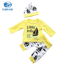 CANIS Brand Cotton Newborn Baby Clothes Boy Cotton Romper Baby Tops Pants Outfits Clothes Set Zero-24M