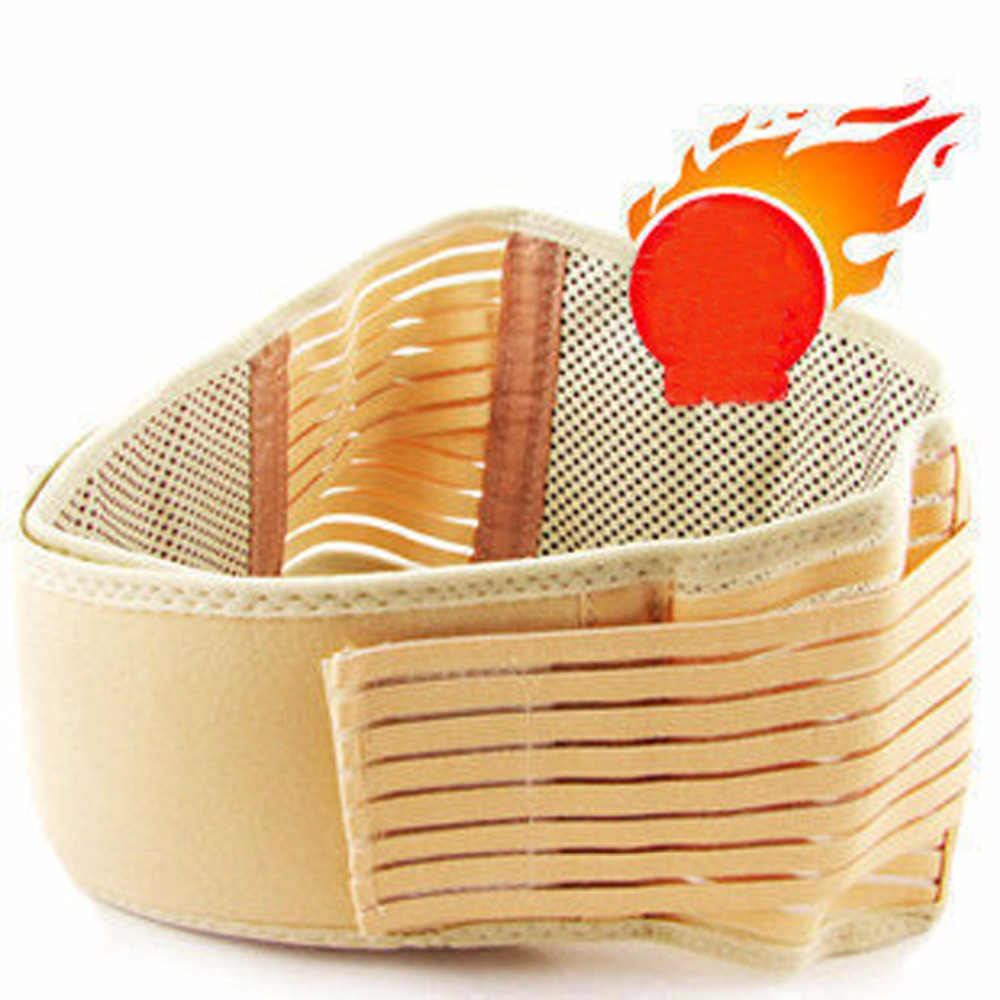 Tourmaline Self Heating Belt Braces & Supports magnetic therapy Waist belt keep warmer Rice yellow