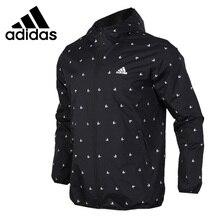 Оригинальный Новое поступление 2018 Adidas WB AOP cube мужская куртка с капюшоном Спортивная
