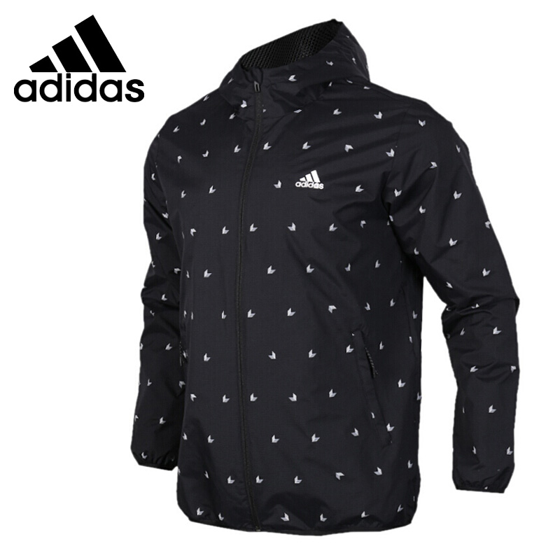 US $94.3 18% OFF|Original New Arrival 2018 Adidas WB AOP CUBE Men's jacket Hooded Sportswear in Running Jackets from Sports & Entertainment on