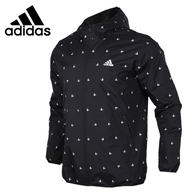 Original New Arrival 2018 Adidas WB AOP CUBE Men's  jacket Hooded Sportswear