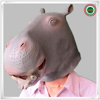 New Hippo Latex Mask Kingdom Eco friendly Animal Head Mask for Halloween Masquerade Fancy Party Overhead Full Face Free Shipping