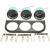 Nuevo 2 Pulgadas 52mm Temp Aceite indicador de Temperatura Del Agua Medidor Electrónico de Presión de Aceite 3 Kits w/3 Hoyos Stent
