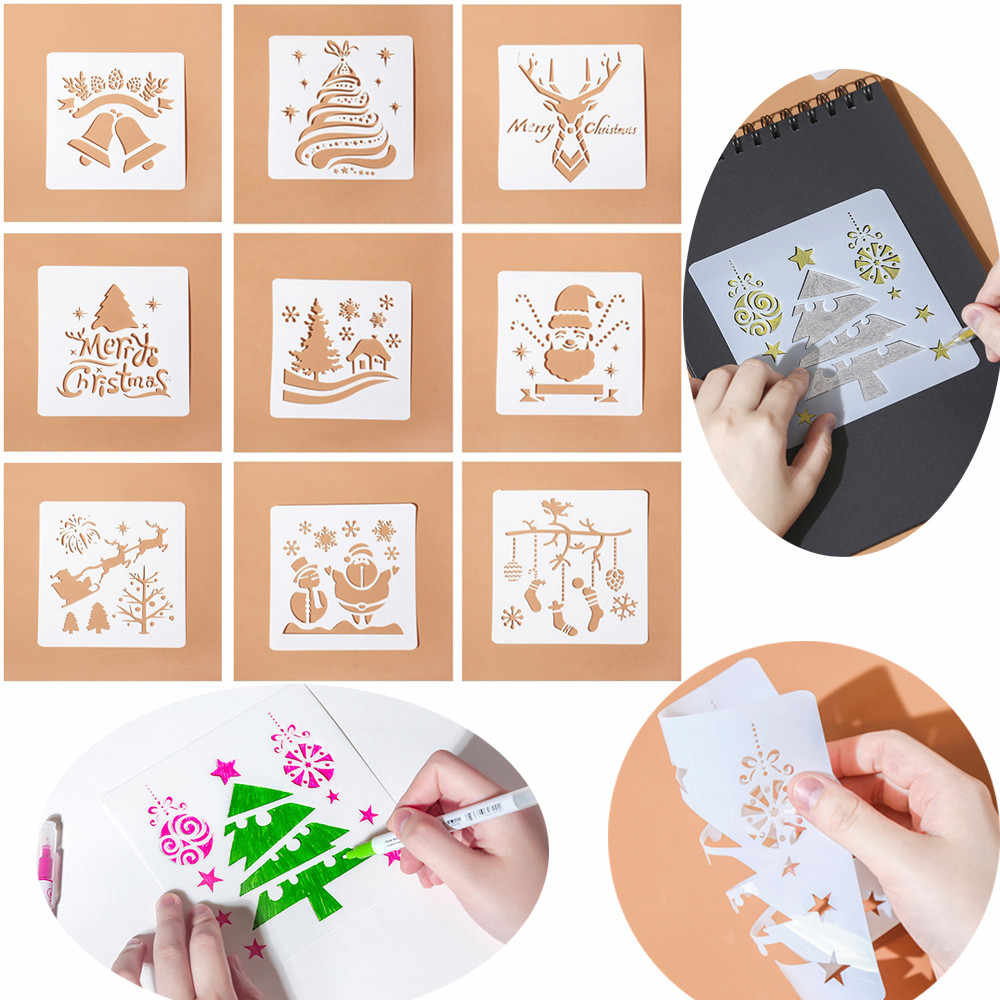 1Pc HOT DIY Craft Christmas Layering Stencils For Walls Painting Scrapbooking Stamp Album Decor Embossing Paper Card Template