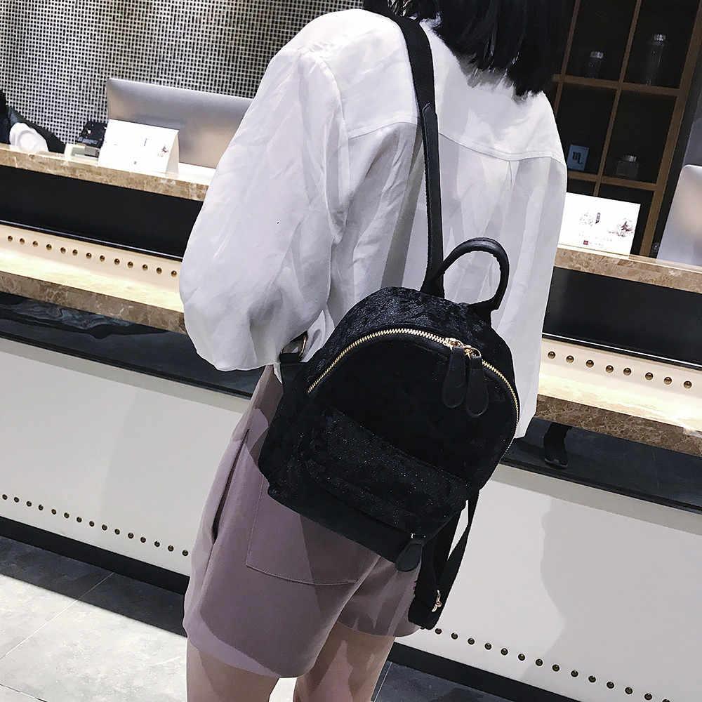 Модный женский рюкзак высококачественный молодежный рюкзак mochila Модный женский велюровый рюкзак дорожный Рюкзак Школьная Сумка #89