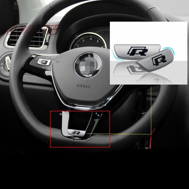 3D Métal R Rline R-LINE emblème badge autocollant de voiture pour Volkswagen VW GOLF 5 6 7 MK7 B8 Passat volant De Voiture style