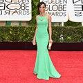 72-й Annual Golden Globe Awards Шон Робинсон Совок Зеленый Русалка Платья Элегантные Длинные Вечерние Платья Халат Де Вечер 2015