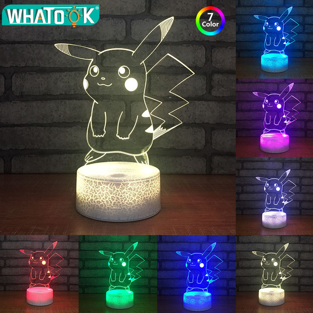 Crack Halloween Night Light Pocket Monsters In Lampara Style Led Usb 3d Pikachu pokemon Lamp Holiday 41Off Lampe 13 Gifts Base Kids Us14 Toys sQCxrthd
