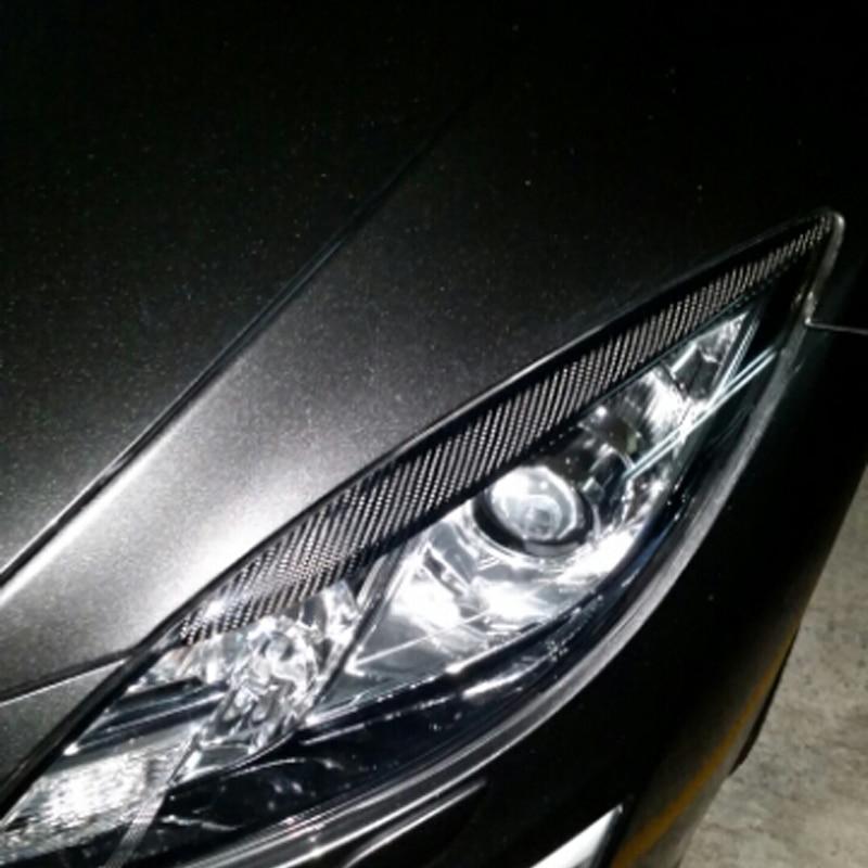 carbon fiber auto car eyelid,eyebrows eyelid front lamp car eyelid for Mazda 6 2009-2013