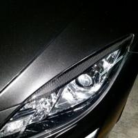 carbon fiber auto car eyelid,eyebrows eyelid front lamp car eyelid for Mazda 6 2009 2013
