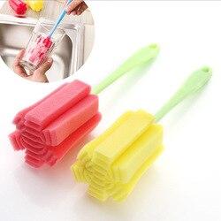 2 pçs/lote Esponja Cup Escova Crubber Lavagem Garrafa de Leite Chá Café Copo de Vidro Escova de Limpeza Ferramentas de Limpeza de Cozinha de Casa