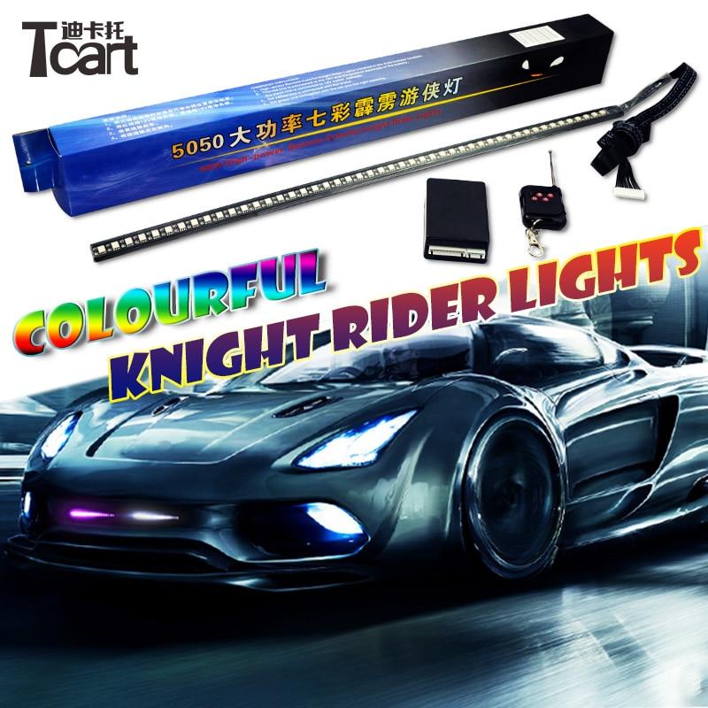 Tcart For Toyota Land Cruiser Prado Infiniti FX37 FX 50 Honda CRV  Chevrolet Aveo Sonic KIA K5 LED Strip Scan Knight Rider Light
