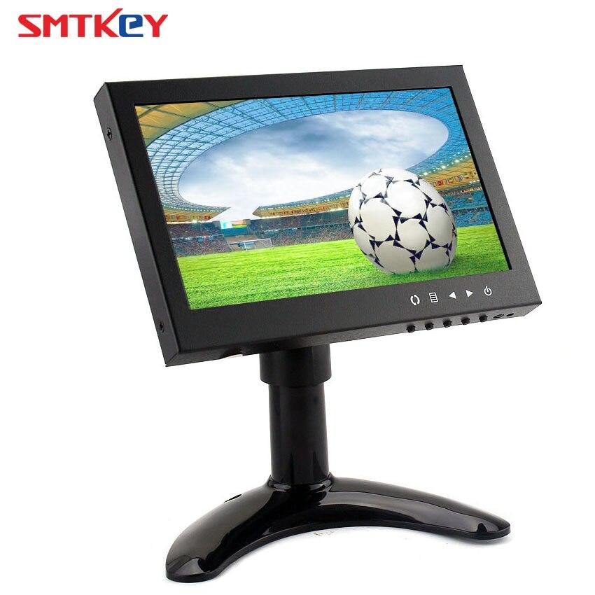 Métal 7 pouces Mini moniteur de vidéosurveillance HD HDMI lcd moniteur de vidéosurveillance avec HDMI/VGA/BNC-entrée vidéo/RCA-entrée vidéo