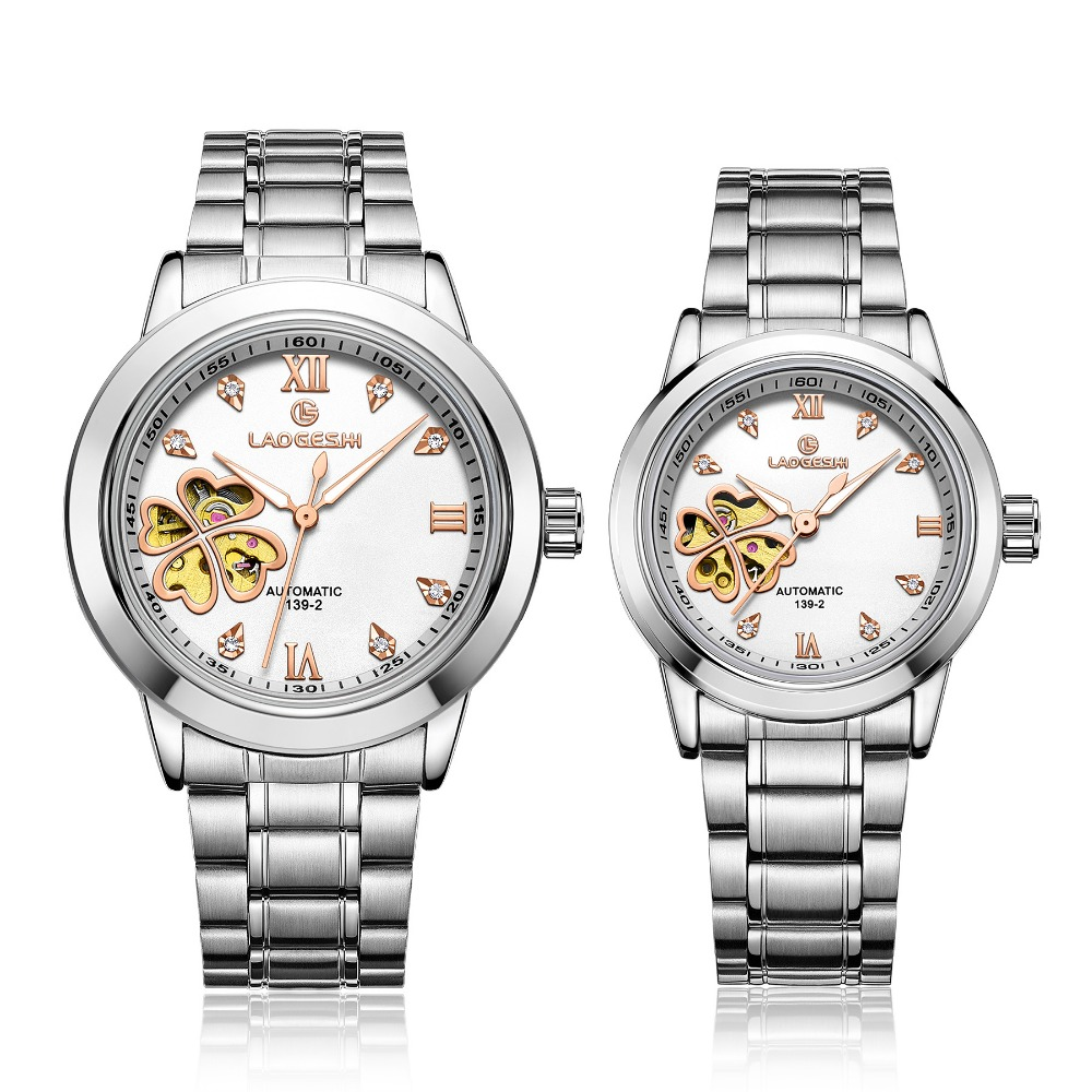 Luxury Brand Dress Fashion Lucky Four Leaf Lovers Watches Men Watch Women Automatic Mechanical Wristwatch kobiet zegarka