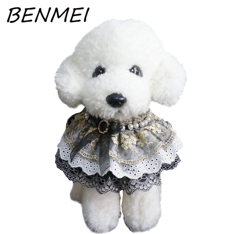 BENMEI Dog Cat Bow Ties Bowknot Lace Flower Tie Dog Neckties Holiday Pet Wedding Decoration Grooming Accessories Princess Tie