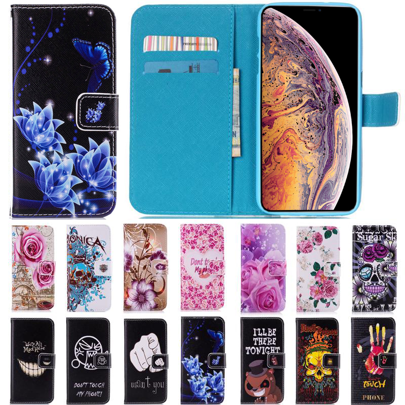 Flowers Leather Flip Wallet Soft TPU Cover For <font><b>Samsung</b></font> <font><b>Galaxy</b></font> A8 <font><b>2018</b></font> Plus <font><b>2018</b></font> A3 A5 A7 2015 2016 2017 Note <font><b>8</b></font> G531F Case image
