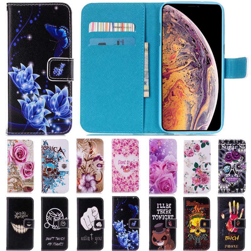 Цветы кожа флип Бумажник силиконовый чехол для samsung Galaxy A8 2018 плюс 2018 A3 A5 A7 2015 2016 2017 примечание 8 G531F случае