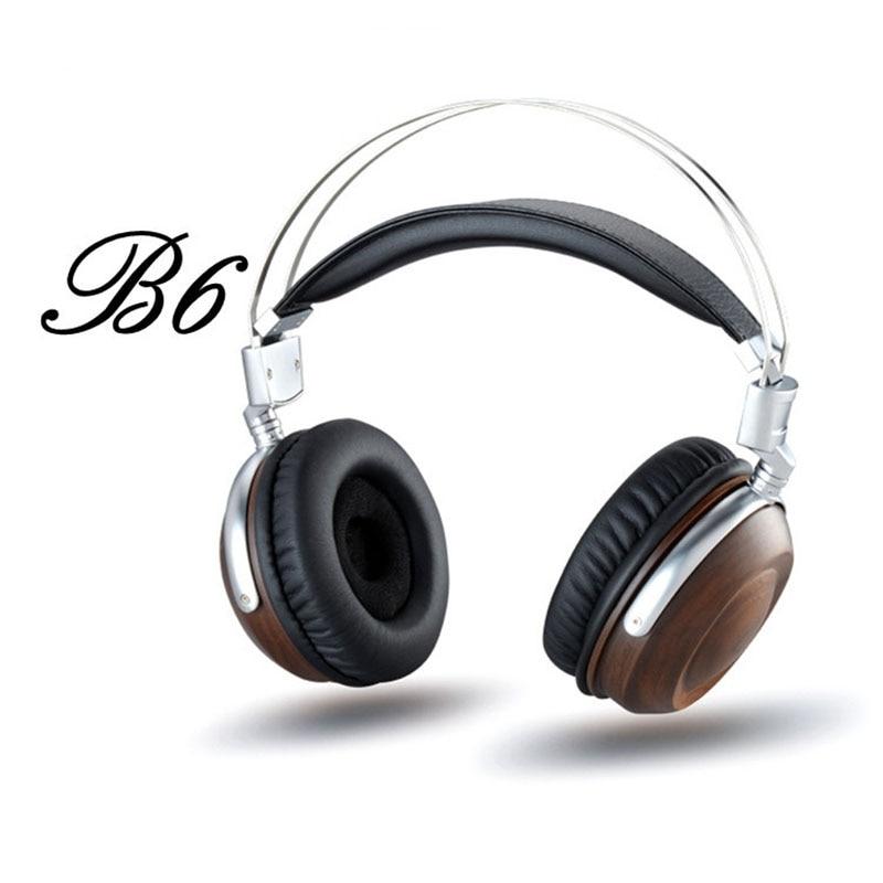 ФОТО Original High Blon B6 HiFi Wooden Metal Headband Headphone Headset Earphone With Beryllium Alloy Driver Leather Cushion