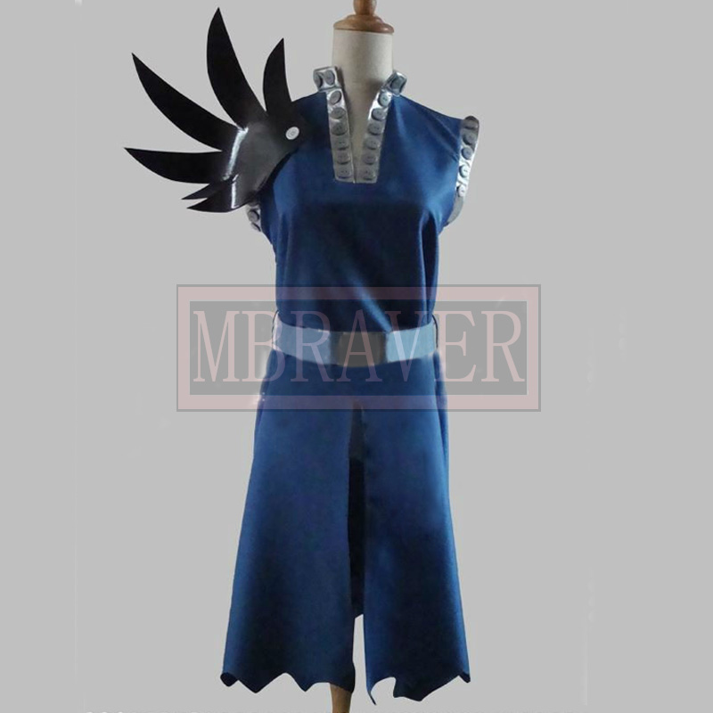 Gajeel Reitfox Costume - Fairy Tail Gajeel Reitfox Cosplay Blue Mens Fairy Tail Cosplay Costume
