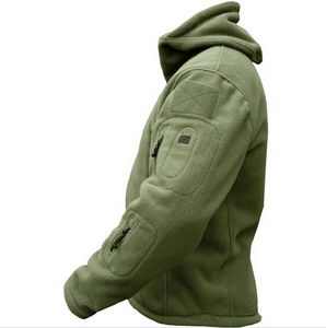 Image 4 - Military Man Fleece Tactical Softshell Jacket Polartec Thermal Polar Hooded Outerwear Coat Army Clothes