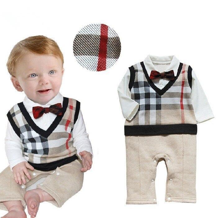 Retail 2016 100%cotton baby boy roupas de bebe Critical gentleman bow long sleeve baby boy clothes