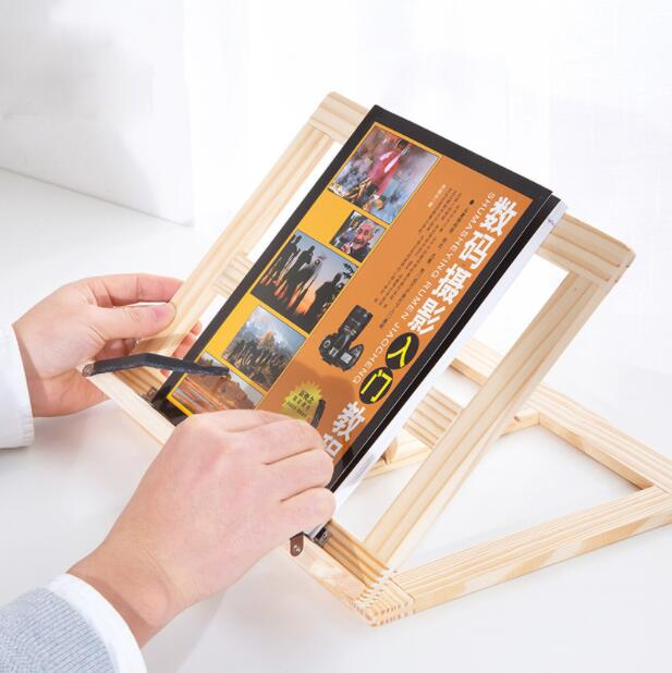 Creative Wooden Reading Bookshelf Student Reading Artifact Book Holder Office Accessories Book Stand цена