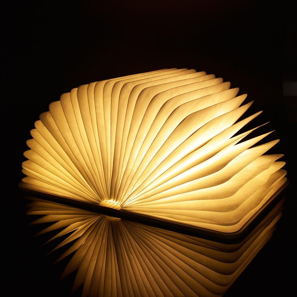 ФОТО LED Folding Book Night Light USB Port Rechargeable Wooden Magnet Cover Creative Home Table Desk Ceiling Decor Lamp RGB RGBWW WWW