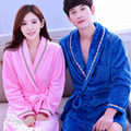 Homewear For Women Men Coral Fleece NightGown Couple Bathrobe Female Bath Robe Long Sleeve Kimono Dressing Gown Nightwear