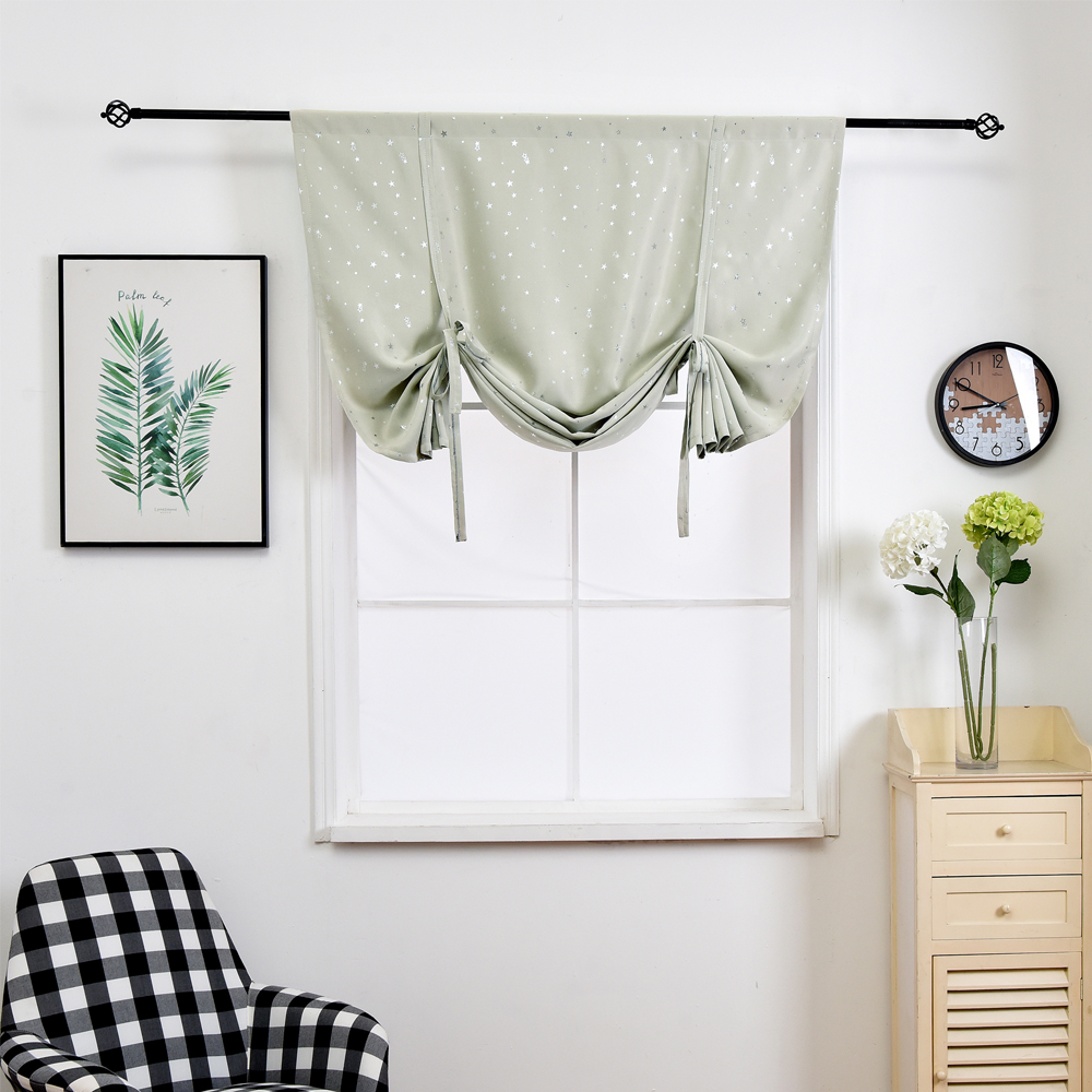 roman blind lightly yellow blackout curtain decoration tie up balloon curtain for small winow. Black Bedroom Furniture Sets. Home Design Ideas