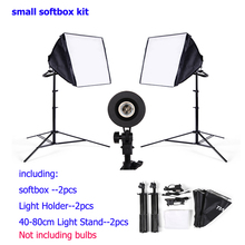 DHL LIBERA el envío kit de iluminación softbox 2 unids 80 cm soporte de luz 2 unids softbox 2 unids luz titular de la foto video studio luz difusa