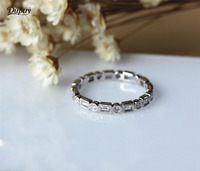 DUPUY 0.8ct Real Diamonds Full Eternity Fancy Diamonds Wedding Ring Wedding Band 14K White Gold Ring Art Deco Promise Ring