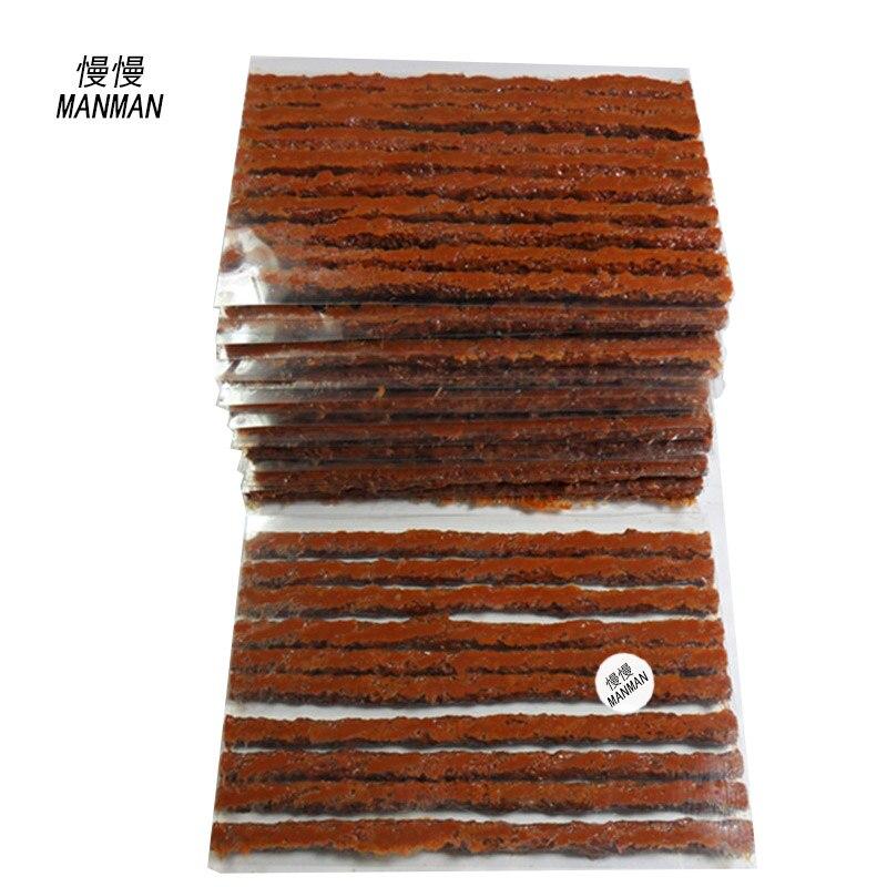 Prix pour 100 pcs/4mm * 100mm/Réparation De Pneus En Caoutchouc Bandes/De Réparation De Pneus Outils/en caoutchouc bandes de réparation de pneus