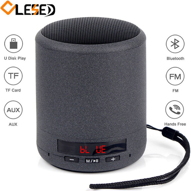 Mini Portable Bluetooth Speaker Wireless Column Bass Sound Stereo Subwoofer FM Radio Handsfree TF Card USB MP3 Player For Phone