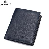 New Famous Designer Genuine Leather Superior Men Wallet Business Style Vertical Shape Litchi Grain Men S