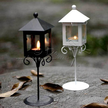 Free Shippig Street Lamp Ironwork Candle Holders/Lantern Wedding Home Decoration