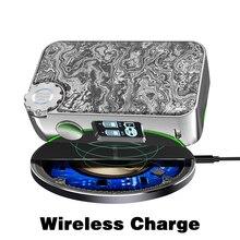цена Box Mod Vapemons Gearbox 222W TC Wireless Charge OLED Screen 510 Thread Resin Panel 18650 Battery Electronic Cigarette Vape Mod онлайн в 2017 году