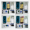 Замена Полный Жилищно Case Cover + Экран Стекло Объектива + Кнопки Для Samsung Galaxy S4 i9500 Инструменты С Логотипом Белый/Черный/красный/Синий