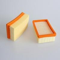 2 peças de filtro plissado plano para karcher wd4 mv4 mv5 mv6 wd5 wd6 peças de aspirador molhado e seco #2.863 005.0 filtros hepa|Peças p/ aspirador de pó| |  -