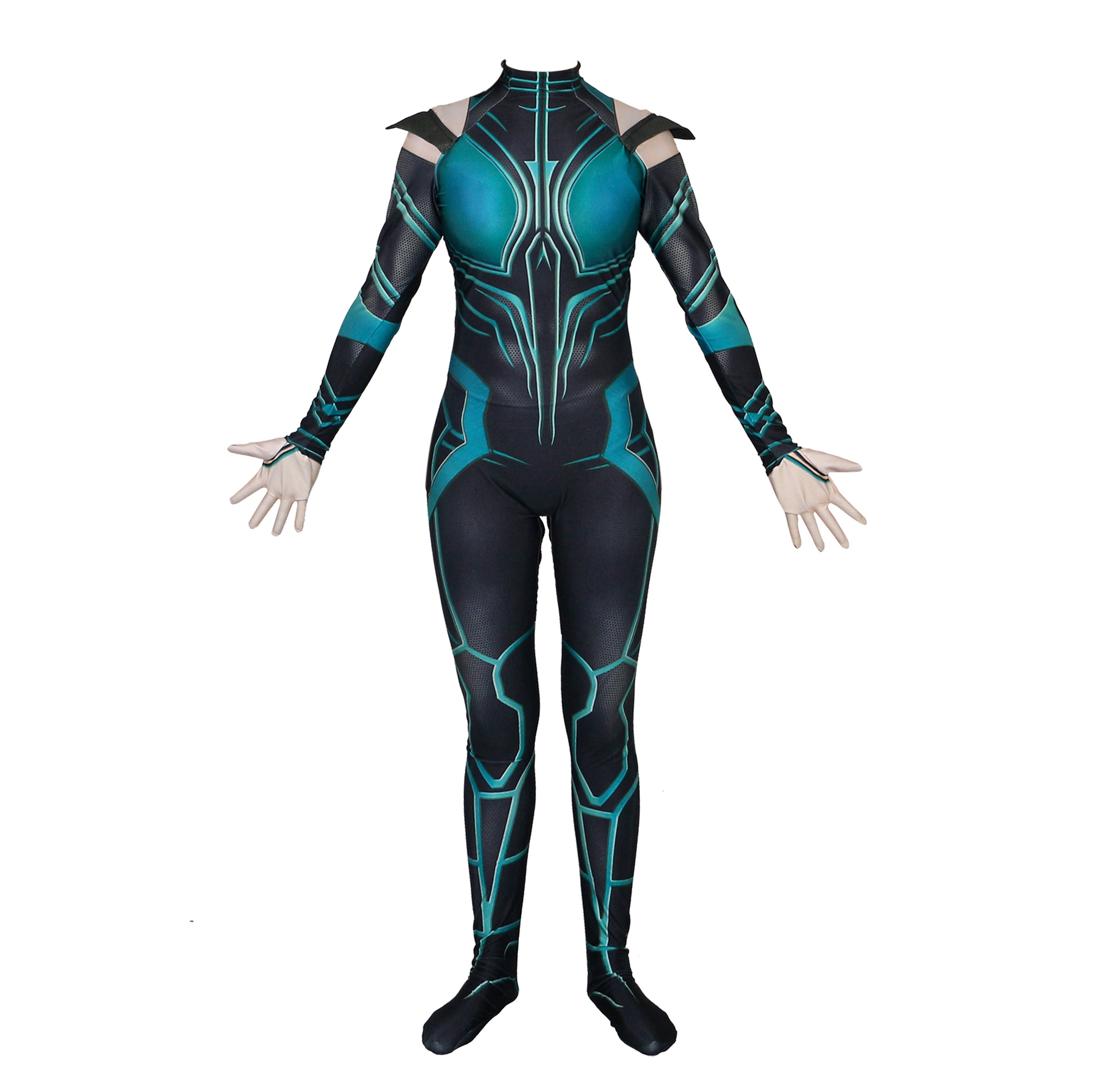 3D Print Movie Thor 3 Ragnarok Hela Trailer Cosplay Costume Jumpsuit for Halloween Sexy Suit Hela Cosplay Halloween Costumes